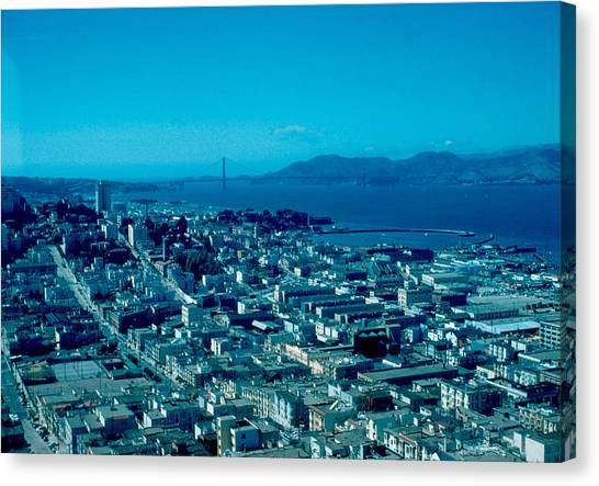 San Francisco 6 1955 Canvas Print by Cumberland Warden