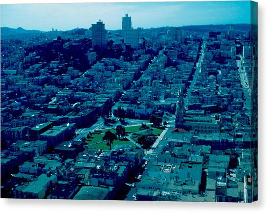 San Francisco 7 1955 Canvas Print by Cumberland Warden
