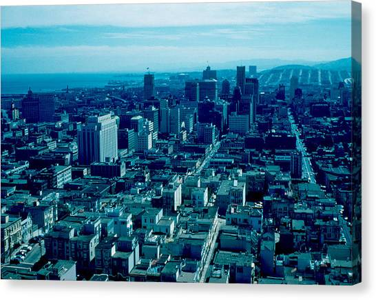 San Francisco 9 1955 Canvas Print by Cumberland Warden