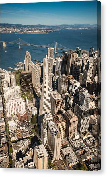 Helicopter Canvas Print - San Francisco Aloft by Steve Gadomski