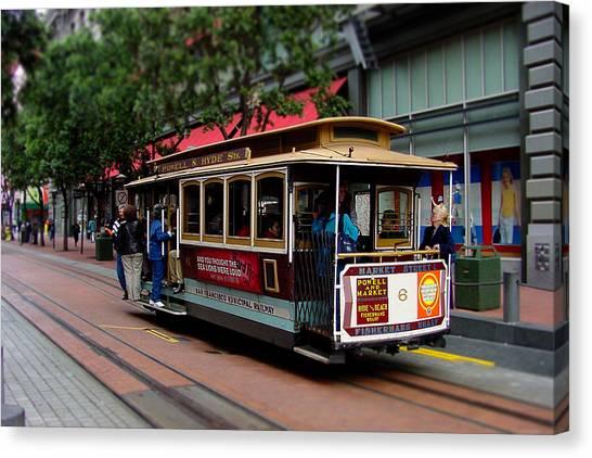 San Francisco Cable Car Canvas Print by SFPhotoStore