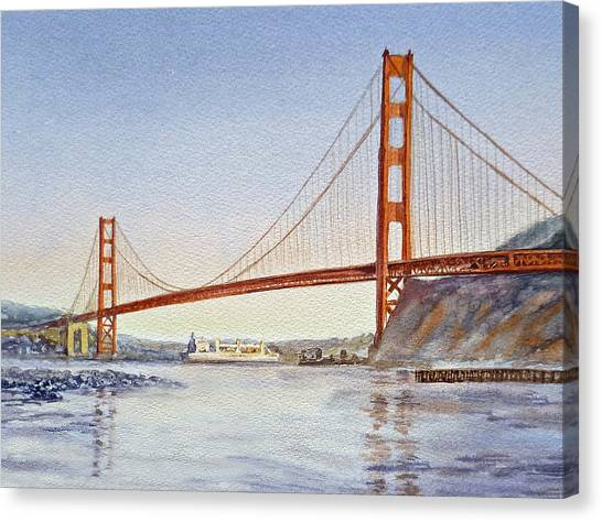 Irina Canvas Print - San Francisco California Golden Gate Bridge by Irina Sztukowski