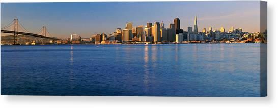 Bay Bridge Canvas Print - San Francisco, California Skyline by Panoramic Images