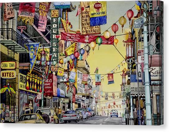 San Francisco Chinatown Canvas Print