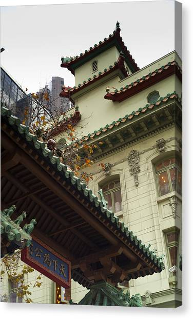 San Francisco Chinatown Dragon Gate Canvas Print by SFPhotoStore