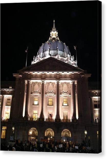 San Francisco City Hall Protest Canvas Print