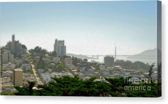 San Francisco - Cityscape - 04 Canvas Print by Gregory Dyer