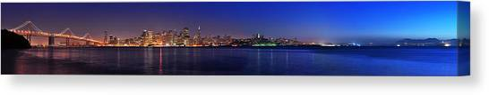 San Francisco Dusk Panorama Canvas Print