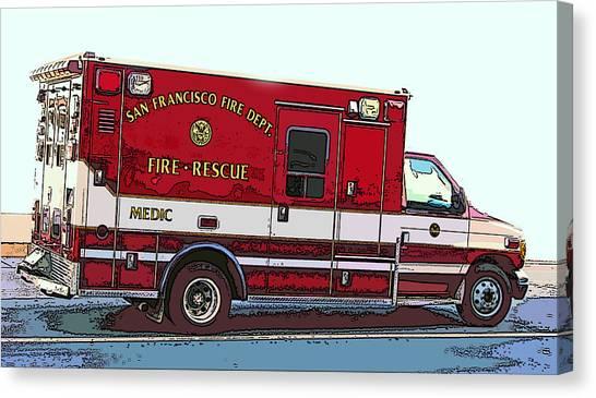San Francisco Fire Dept. Medic Vehicle Canvas Print