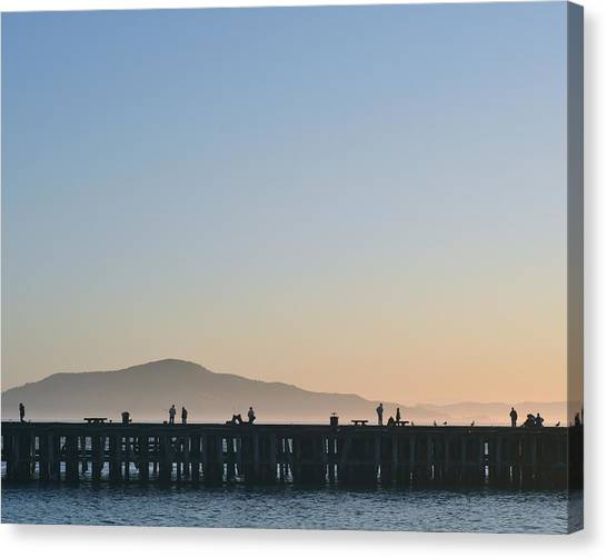 San Francisco Fishing Dock Canvas Print
