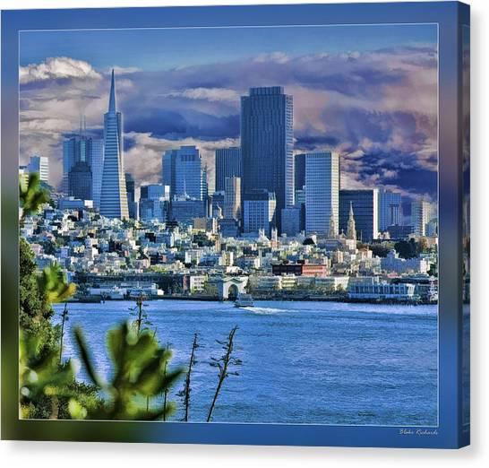 San Francisco From Alcatraz Canvas Print