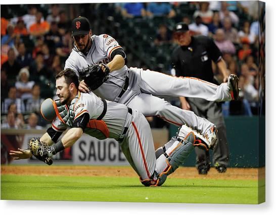 San Francisco Giants V Houston Astros Canvas Print by Scott Halleran