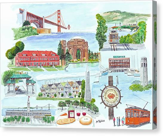 San Francisco Highlights Montage Canvas Print