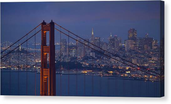 San Francisco Night Canvas Print