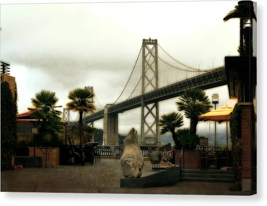 San Francisco Oakland Bay Bridge Canvas Print