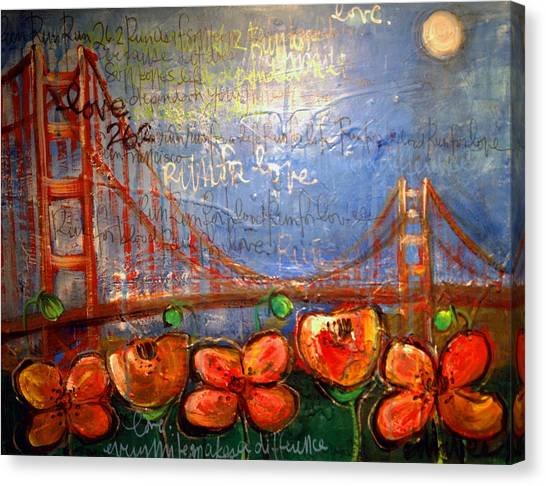 San Francisco Poppies For Lls Canvas Print