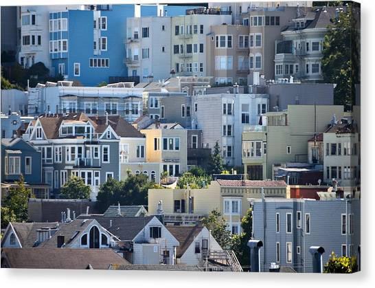 Precisionism Canvas Print - San Francisco Precisionism by Steven Richman