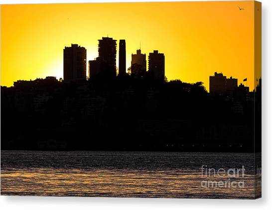 Canvas Print featuring the photograph San Francisco Silhouette by Kate Brown