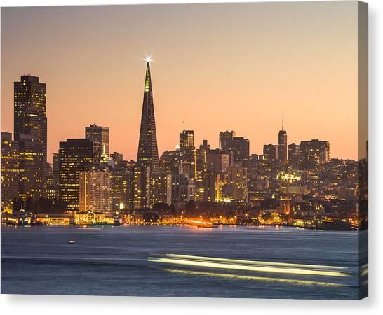 San Francisco Skyline Late Evening Canvas Print