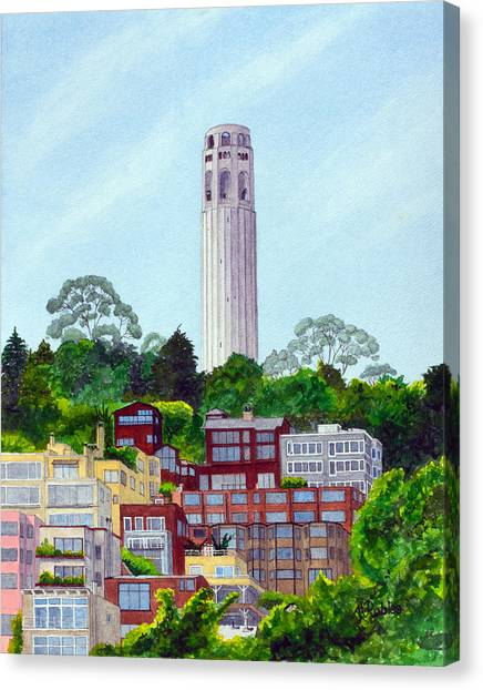 San Francisco's Coit Tower Canvas Print