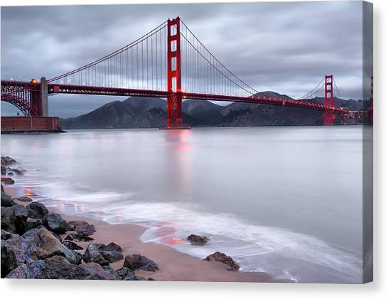 San Francisco's Golden Gate Bridge Canvas Print by Gregory Ballos