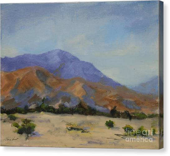 Mirages Canvas Print - Mt. San Jacinto In Morning Light by Maria Hunt
