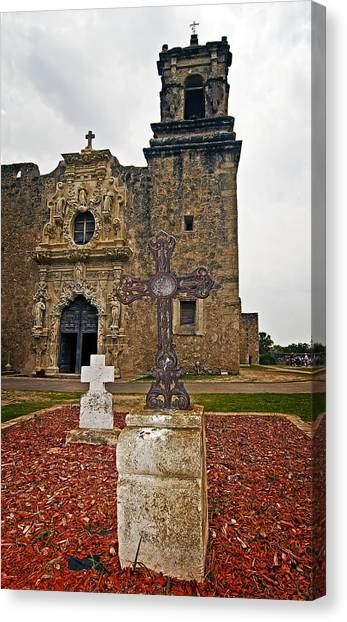 San Jose Mission Crosses Canvas Print