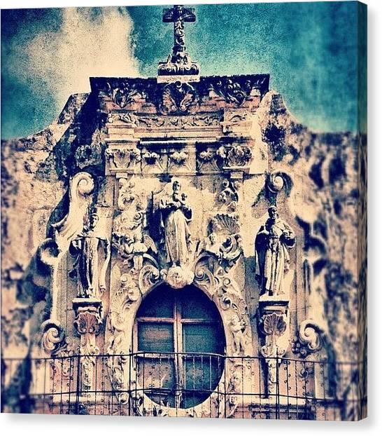 Religious Canvas Print - San Jose Mission by Jill Battaglia