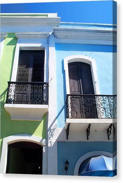 San Juan Balconies Canvas Print