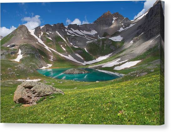 Snow Melt Canvas Print - San Juan Green by Aaron Spong