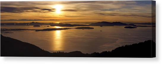 Vancouver Island Canvas Print - San Juans Evening Serenity by Mike Reid