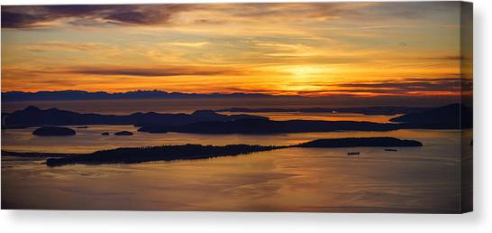 Vancouver Island Canvas Print - San Juans Island Sunset Light by Mike Reid