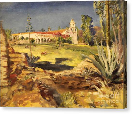 San Luis Rey Mission 1947 Canvas Print