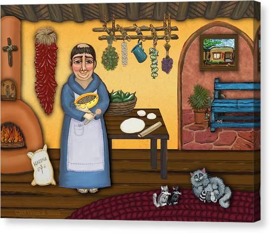 Priests Canvas Print - San Pascuals Kitchen 2 by Victoria De Almeida