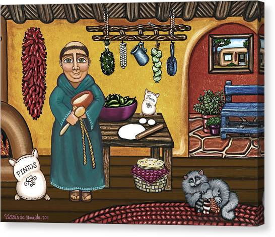 Monks Canvas Print - San Pascuals Kitchen by Victoria De Almeida