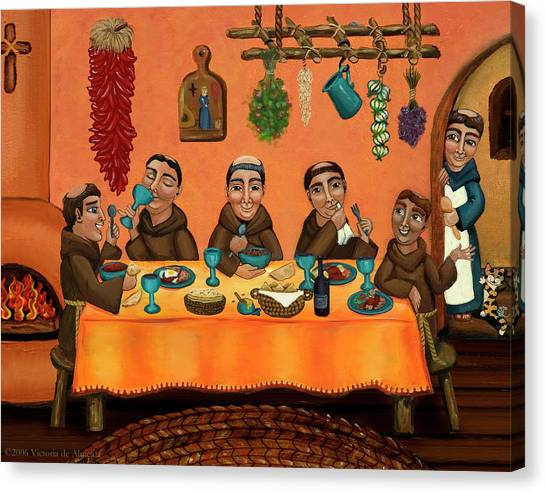Monks Canvas Print - San Pascuals Table by Victoria De Almeida