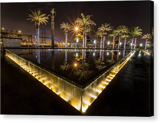 San Pedro Fountains Canvas Print
