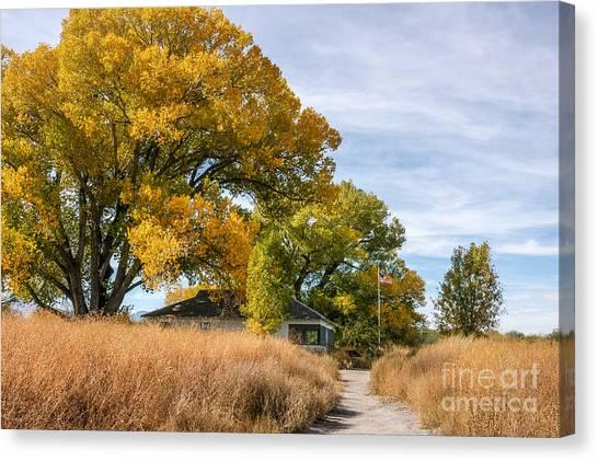 Brown Ranch Trail Canvas Print - San Pedro House by Al Andersen