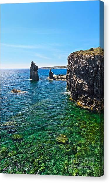 San Pietro Island - Le Colonne Canvas Print