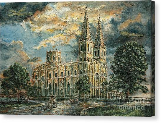 San Sebastian Church 1800s Canvas Print