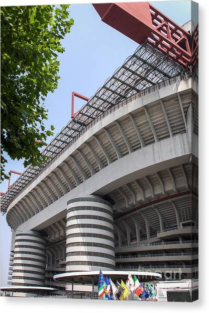 Ac Milan Canvas Print - San Siro by Rjd Photography