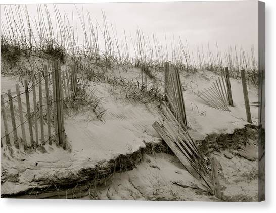 Sand And Fences Canvas Print