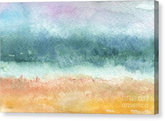 Purple Canvas Print - Sand And Sea by Linda Woods