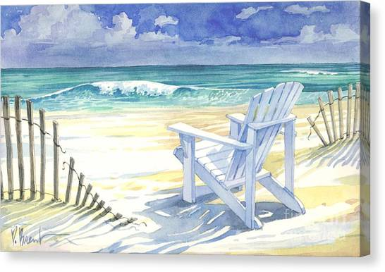 Adirondack Chair Canvas Print - Sand And Shadows by Paul Brent