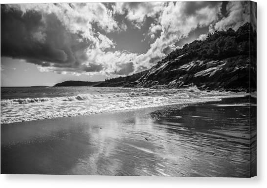 Ocean Cliffs Canvas Print - Sand Beach Reflects by Kristopher Schoenleber