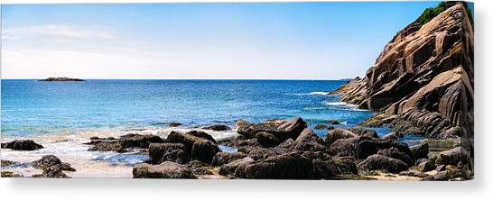 Sand Beach Rocky Shore   Canvas Print