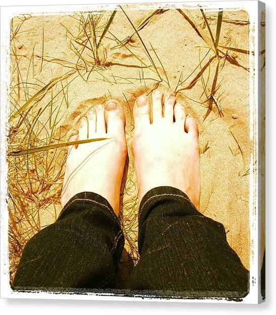 Hunting Canvas Print - Sand Between The Toes by Danielle Hunter
