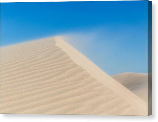 Sand Blowing Off A Dune Canvas Print