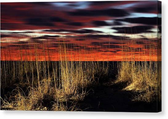4x4 Canvas Print - Sand Dune Sunrise by JC Findley