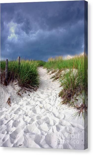 Sands Canvas Print - Sand Dune Under Storm by Olivier Le Queinec